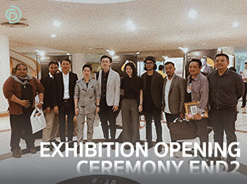 Dean, Asst. Prof. Dr. Chutima Manewattana attended the opening ceremony of the exhibition END2